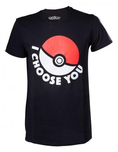 5952-Apparel - Camiseta Negra Pokemon I Chose You T-M-8718526062953