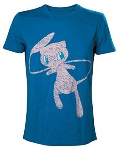 5937-Apparel - Camiseta Azul Pokemon Mythical Mew T-XXL-8718526071139