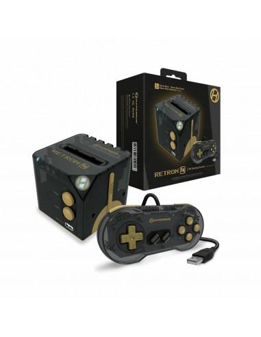 6035-Retro - Consola Retron SQ Black Gold para Juegos GameBoy (Adv/Col-0810007711911