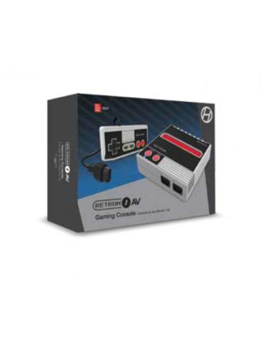 6037-Retro - Consola Retron 1 AV Gris + 1 Mando (NES)-0810007712239