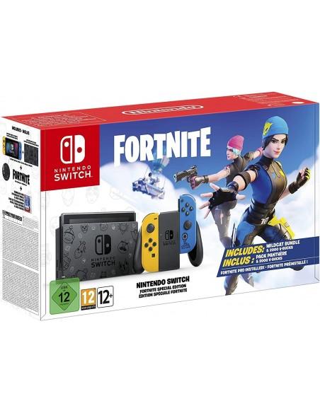 -6079-Switch - Nintendo Switch Consola Fortnite Sin Puntos Wildcats & VBuck-0045496234539