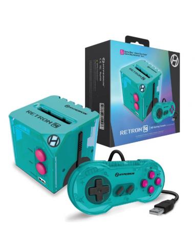 6036-Retro - Consola Retron SQ Hyper Beach Azul para Juegos GameBoy (A/C-0810007711928