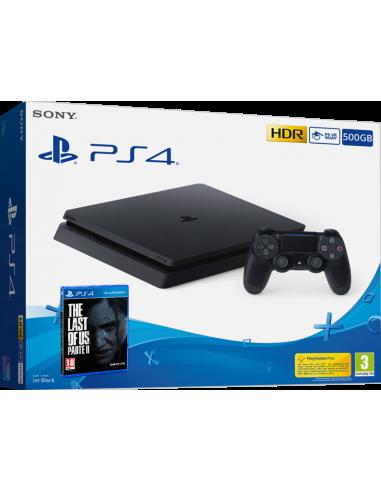 6115-PS4 - PS4 Consola Slim 500 GB + Last of us II-8431305030102