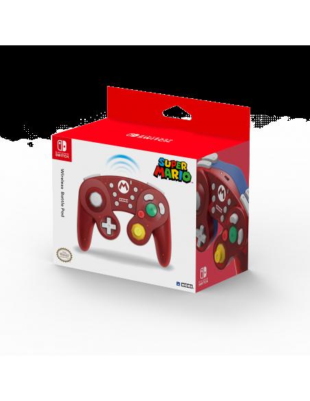 -6230-Switch - Mando Hori Battle Pad Wireless Mario-0873124008982