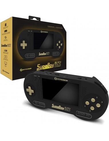 6224-Retro - Consola SNES SupaBoy Portatil Black Gold Special Edition-0810007710969