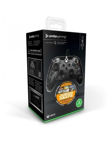 6259-Xbox Series X - Wired Controller Negro Camo Licenciado -0708056067656