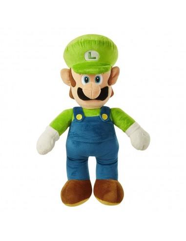 6601-Peluches - Peluche Super Mario Gigante Luigi 50 cm-0039897644578