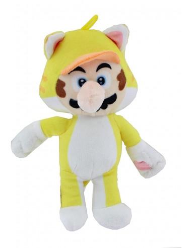 6614-Peluches - Peluche Super Mario Mario Cat 19 cm-0000000000000