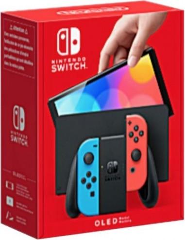 7032-Switch - Nintendo Switch (versión OLED) Azul Neón/Rojo Neón-0045496453442