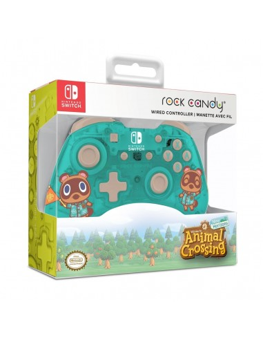 7350-Switch - Rock Candy Wired Controller Animal Crossing-0708056068301