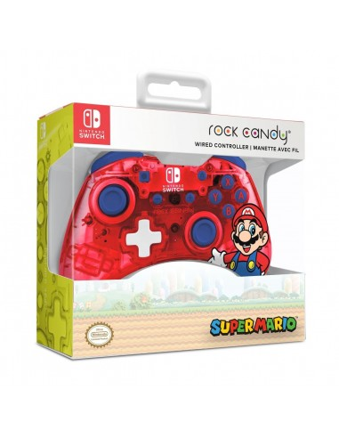 7348-Switch - Rock Candy Wired Controller Mario-0708056068295