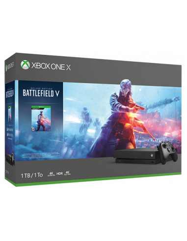2267-Xbox One - Xbox One Consola X + Battlefield V-0889842333398