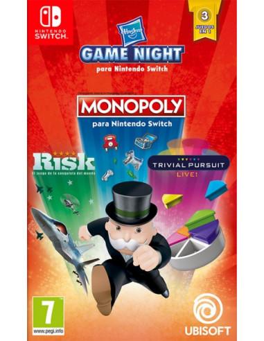 2742-Switch - Hasbro Game Night (Monpoly +Risk +Trivi Pursuit)-3307216088257