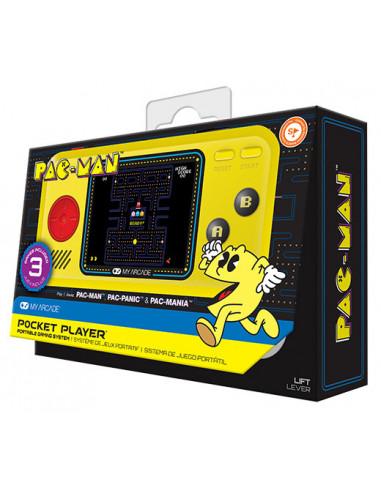 852-Retro - My Arcade Pocket Player Pacman (3 juegos) Consola-0845620032273