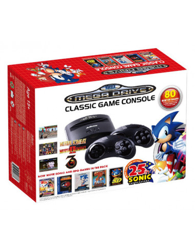 535-Retro - Consola Retro Sega Mega Drive Wireless Ed Sonic 25th Ann (80-0857847003455