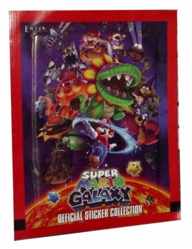 2517-Merchandising - Sobre 5 Pegatinas Super Mario Galaxy-8436033301593