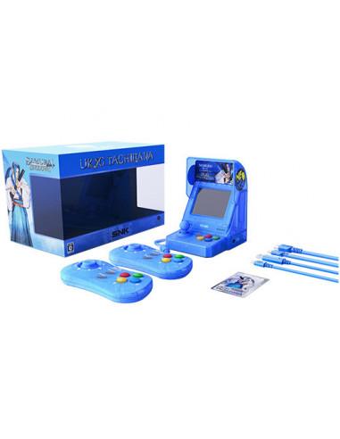 2328-Retro - SNK Neo Geo Mini Samurai Shodown V Ed. Ukyo Tachibana (Azul)-4964808400348