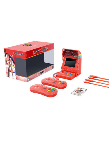 1949-Retro - SNK Neo Geo Mini Samurai Shodown V Ed. Nakoruru (Rojo)-4964808400225