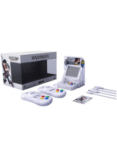 400-Retro - SNK Neo Geo Mini Samurai Shodown V Ed. Haohmara (Blanco)-4964808400331