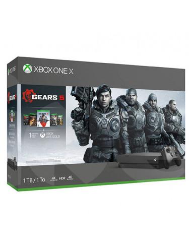 3090-Xbox One - Xbox One Consola X 1TB + Gears of War 5-0889842477122