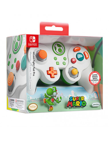 3192-Switch - Wired Fight Pad Pro Controller Yoshi - Licenciado-0708056065966
