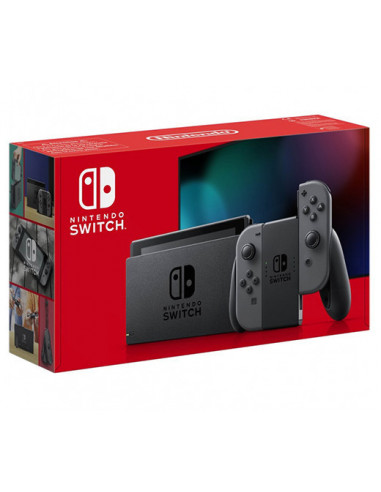 3218-Switch - Nintendo Switch Consola Gris - New Version --0045496452599