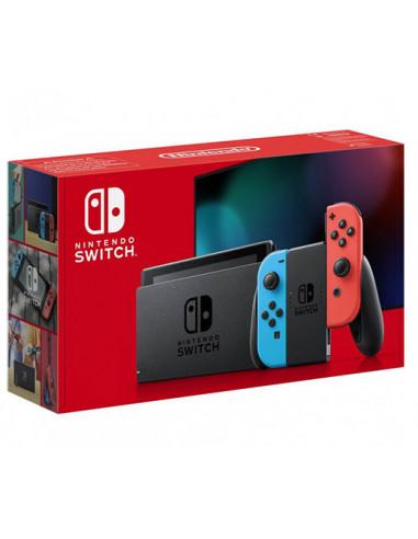 3219-Switch - Nintendo Switch Consola Neon (JoyCon Azul/Rojo) -New Version-0045496452629