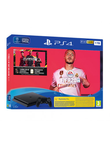 3281-PS4 - PS4 Consola Slim 1TB + FIFA 20 + Cupon Futvch + PS Plus 14d-0711719974703
