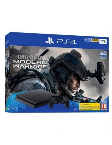 3498-PS4 - PS4 Consola Slim 1TB + Call of Duty: Modern Warfare-0711719325406