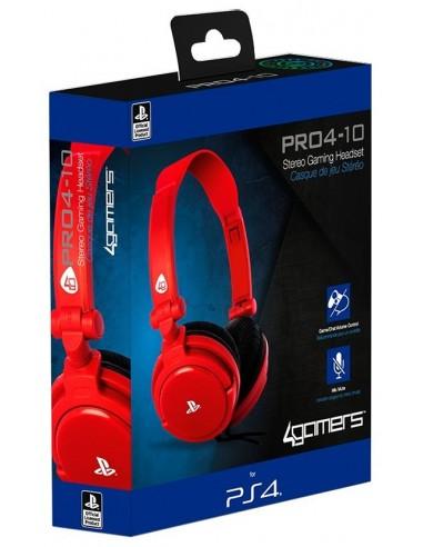 1715-PS4 - Auriculares Stereo Licenciado SONY PRO4 10 ROJO-5055269707325