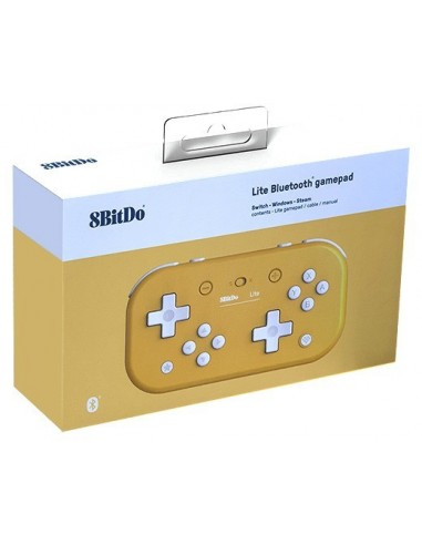3584-Switch - Mando Wireless Switch Lite - Amarillo 8Bitdo (Switch - PC)-6922621501084