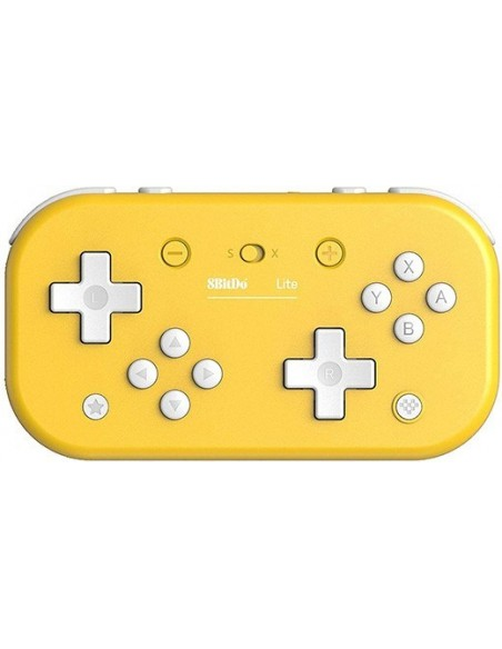 -3584-Switch - Mando Wireless Switch Lite - Amarillo 8Bitdo (Switch - PC)-6922621501084