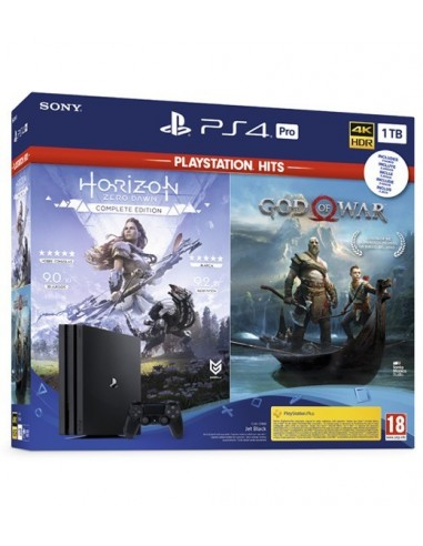 3626-PS4 - PS4 Consola Pro 1TB+ God of War+ Horizon: Zero Dawn Complete-0711719325208