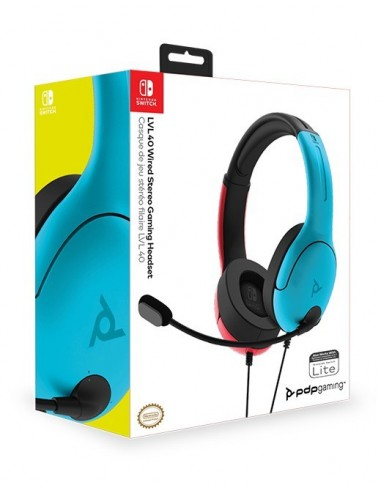 3320-Switch - LVL40 Wired Azul y Rojo Auricular Gaming Licenciado-0708056066826