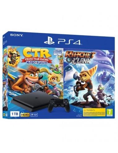 3625-PS4 - PS4 Consola Slim 1TB + Crash Racing + Ratchet & Clank-0711719962809