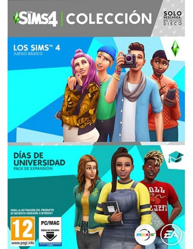 3617-PC - Los Sims 4 + Dias de Universidad Coleccion (Code in Box)-5030931124013
