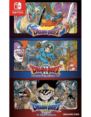 3758-Switch - Dragon Quest Collection (1+2+3) - Import - USA-4891670648694