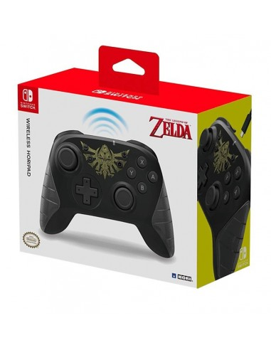 3869-Switch - Mando Horipad Zelda Wireless-0873124008746