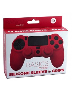 PS4 - Silicone + Grips Red...