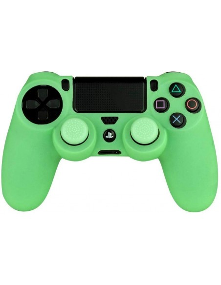 -3995-PS4 - Silicone + Grips Glow In The Dark FR-TEC-8436563091513