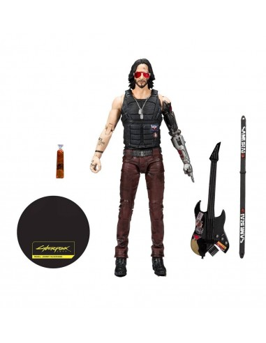 4198-Figuras - Cyberpunk 2077 Figura Johnny Silverhand 18 cm-0787926135015