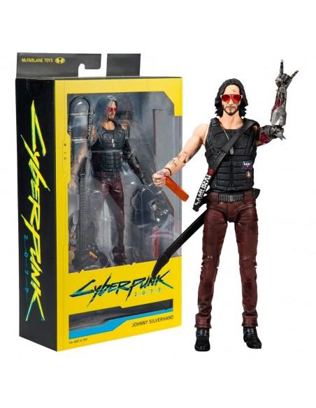 -4198-Figuras - Cyberpunk 2077 Figura Johnny Silverhand 18 cm-0787926135015