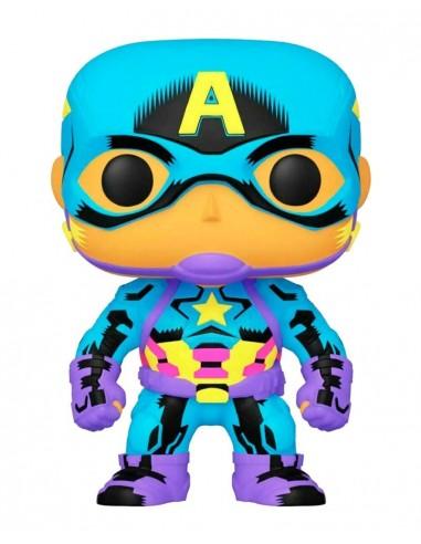 4565-Figuras - Figura POP! Captain America Marvel (Black Light)-0889698488457