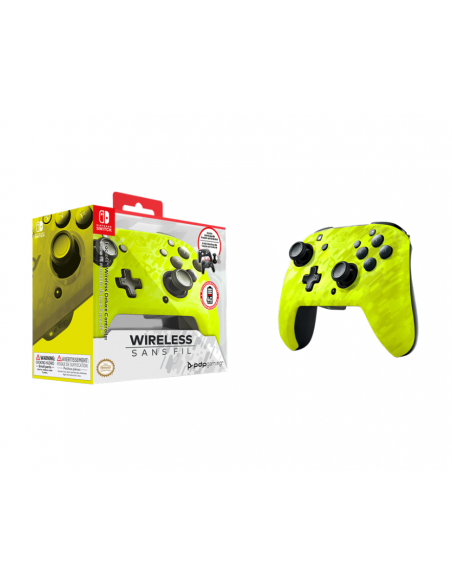 -4995-Switch - Faceoff Wireless Deluxe Controller YL Camo Switch/Lite-0708056067502