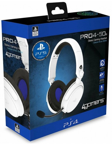 5137-PS4 - PRO4-50S Blanco Gaming Stereo -  Licensed PS4/5-5055269711292