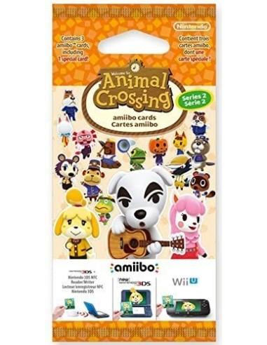 5156-Amiibos - Pack 3 Tarjetas amiibo Animal Crossing Serie 2-0045496353322