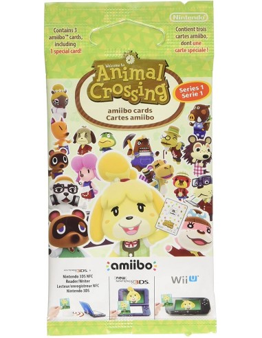 5153-Amiibos - Pack 3 Tarjetas amiibo Animal Crossing Serie 1-0045496353186
