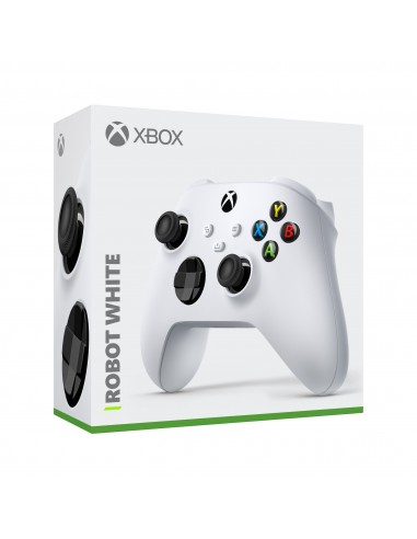 5167-Xbox Series X - Mando Wireless Robot White (Xbox - PC)-0889842611564