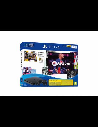 5118-PS4 - PS4 Consola 500GB + 2 Mandos DualShock + FIFA 21-0711719830924