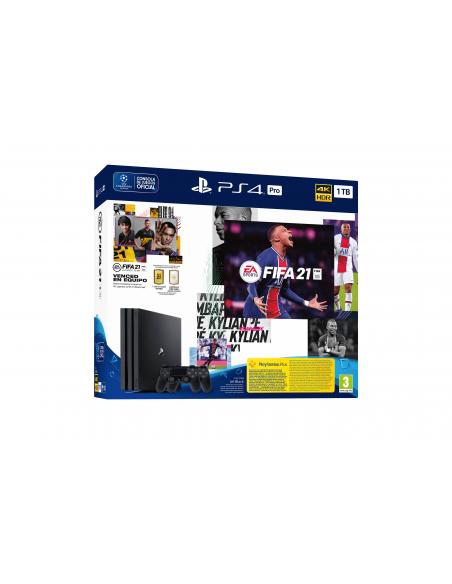 -5105-PS4 - PS4 Consola Pro + 2 Mandos DualShock + FIFA 21-0711719835127